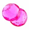 Acrylic 10mm Round Facet Fuchsia